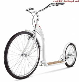 "Schwinn Adult Shuffle Scooter with 26"" Wheels, White"