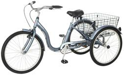 Schwinn Meridian Adult Tricycle 24 Inch Slate Blue - Local P