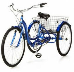 Schwinn Adult Tricycle with Large Folding Carry Basket Singl