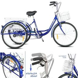 Adult Trike Tricycle For Adults Single Speed Three Wheeled B