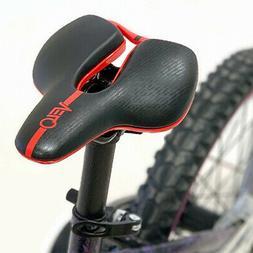 Velo Angel Black / Red Kids Bicycle PU Leather Saddle Jr Jun