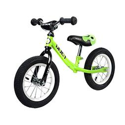 Tauki Kid Balance Bike No Pedal Push Bicycle, 12 Inch, Green