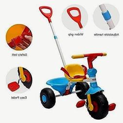Best Kids' Tricycle, with Pushing Handle and Grow-with-Toddl