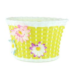 Farway 1PC Kid's Bike Bicycle Basket Front Decoration with 3