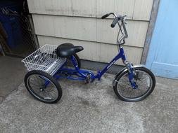 KENT BIKE BLUE TRICYCLE FOLDING BIKE