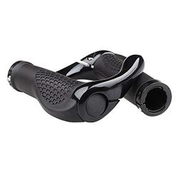 Bike Handlebar Grips, Non-Slip-Rubber Bicycle Handle Grip wi