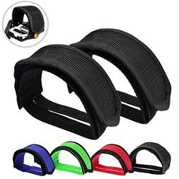 Outgeek 1 Pair Bike Pedal Straps Pedal Toe Clips Straps Tape