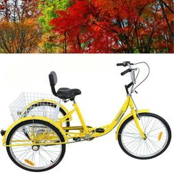 "3-Wheel Adult 24"" Tricycle Shimano 6-Speed Bike Bicycle Trik"