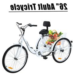 "Ridgeyard 3-Wheel24"" Adult Tricycle Trike Bike Bicycle Cruis"