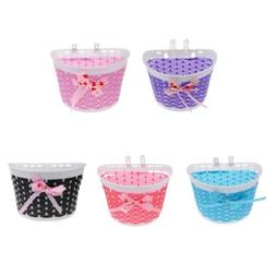Bowknot Girls Boys Bicycle Front Basket Childs/Kids for Bike
