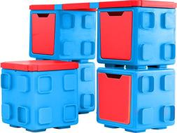Chillafish BOX and BOXTOP Bundle: Connectable Toy Storage an