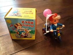 Boys Mechancial Tricycle Vintage Toy