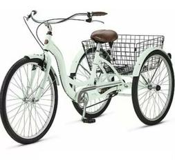 Brand New Schwinn Meridian Adult Tricycle Light Green Blue M