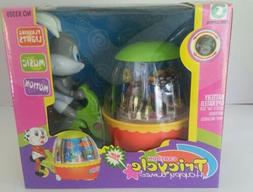 Cartoon Tricycle Toy with Bunny Rider