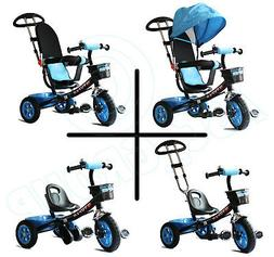 childs 4 in 1 trike blue
