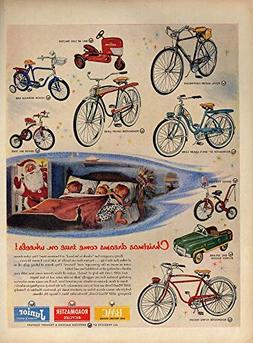 Christmas dreams come true AMF Bicycles ad 1954 Roadmaster T