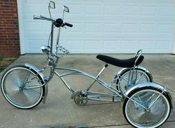 chrome big wheel motor trike 3 wheel