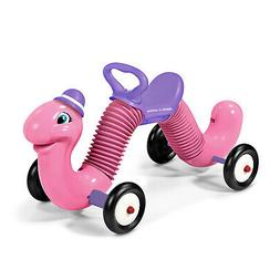 """Radio Flyer Classic Pink 34"""" Long Inchworm Bounce and Go Rid"""