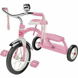 "Classic Pink Dual Deck Tricycle, 12"" Front Wheel, Pink"