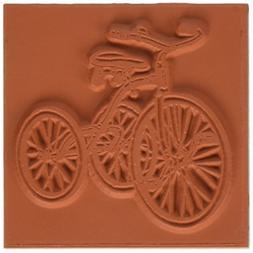 Deep Red Cling Stamp-Vintage Tricycle