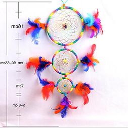 Daeou Colorful Tricyclic Dream Catcher Colorful Feathers Cra