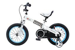"""RoyalBaby CubeTube Buttons 16""""  Bicycle for Kids, Blue"""