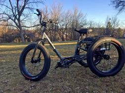 Custom Sun Baja Pedal Assist Electric Tricycle Trike , Bafan