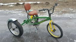 Custom John Deere 3  Three Wheel Bike Bicycle Trike Tricycle