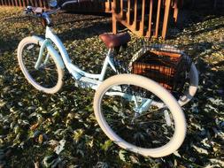 """Customized 26"""" Schwinn Meridian Adult Retro Tricycle, Mint w"""