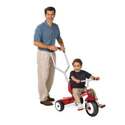Radio Flyer Deluxe Steer and Stroll Kids Recreation Bike Tri