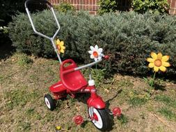 Radio Flyer Deluxe Steer and Stroll Tricycle