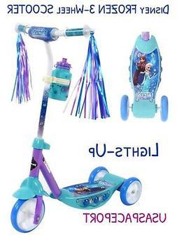 HUFFY Disney Princess Frozen 3-wheel Kick Scooter Light-Up D