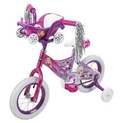 Huffy Disney Princess Kid's Bike 12 inch, Pink/Purple with C