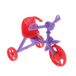 Doll Tricycle With Push Handle Kids Miniature Toy Children D