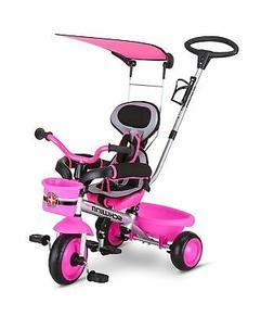 Schwinn Easy Steer 4 in 1 Tricycle, Pink