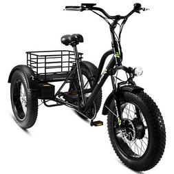 Electric Adults Tricycle 20'' Fat Tire LCD Display 500W