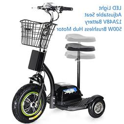 SAY YEAH Electric Bike 500W Brushless Hub Motor Scooter,3 Wh