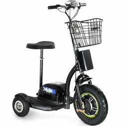 Electric Mobility 500W Scooter MotoTec 3 Wheel Trike 48 Volt