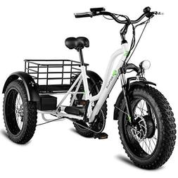 "Goplus Electric Trike 20"" Fat Tire 500W Electric Tricycle fo"