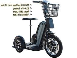 Rugged Electric Trike 48v 800w Adult Mobility Scooters Led L