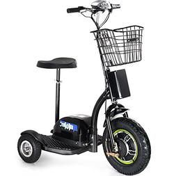 Rugged Electric Trike 48v 500w Electric Scooter LED Light El