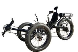 Fat Tad tire recumbent electric trike, electric tricycle, sn