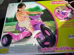 Fisher Price trike tricycle grow with me pink purple girls