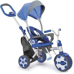 Little Tikes Fold 'n Go 4-in-1 Trike Blue Grey Compact Safet