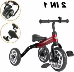 Foldable Land Rover 2 in 1 Kids Tricycle Trike Toddler Bike