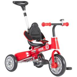 Foldable Steer Stroller Mini Kids Ride on Tricycle w/ Bell P