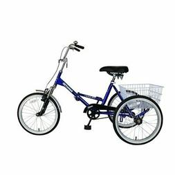 "Folding Adult Tricycle 20"" Portable Cruise Bike Bicycle 20in"