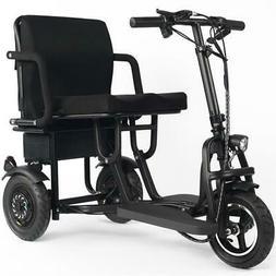 Folding Mobility Electric Trike 48v 700w Dual Motor Lithium