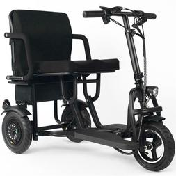 MotoTec Folding Mobility Electric Trike 48v 700w Dual Motor