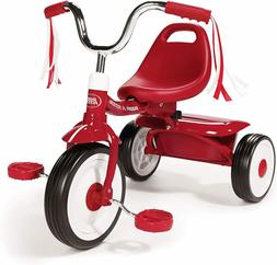 folding trike red tricycle kids toddler child